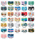 ALVABABY Reusable Baby Cloth Diapers OneSize Washable Pocket Nappies With Insert