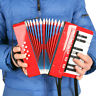 More images of Kids Accordion 17 Keys 8 Bass Musical Educational Instrument Toy Gift Red D4Q0