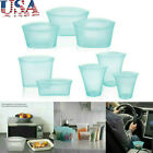 3 Pcs Reusable Silicone Food Storage Bags Zip Top Leakproof Containers Stand Up