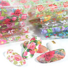 10 Sheets/Set Nail Foils Flower Patterns Transfer Decals for Nail Art Decoration