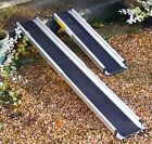 7ft Foot 2.1m Folding Telescopic Wheelchair Mobility Scooter Channel Ramps