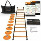 Mantra Sports Agility Ladder&Speed Cones Training Set,Exercise Workout Equipment