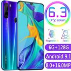 "P35 Pro Smart Phone 6.3"" Hd Full Screen 4800mah Android 9.1 Face Id Mobile Phone"