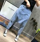 New Comfortable Womens Loose Baggy Harem Jeans Hippy Denim Pants Casual Trousers