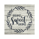 Home Sweet Home Rustic Farmhouse Style White Wood Sign Wall B3-12120001013