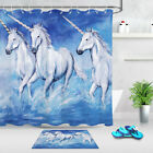 Unicorn In The Water Shower Curtain Liner Bathroom Mat Waterproof Polyester
