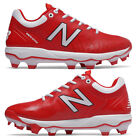 New Balance Red / White Men's Molded Baseball Cleats PL4040v5 Low Cleat