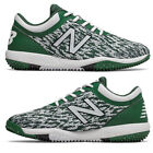 New Balance Green /White Men's Baseball Turf Shoes 4040v5 Low Turf Trainer Cleat