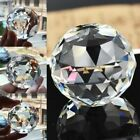 Clear Crystal Sphere Faceted Gazing Ball Prisms Suncatcher Home Decoration Lot