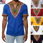 Kyпить African Tribal Shirt Men Dashiki Print Succinct Hippie Top Blouse Clothing US на еВаy.соm