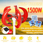 1500W 12V 24V Lanterns 5 Blades Wind Turbine Generators Vertical Axis+Controller