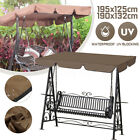Waterproof Swing Top Cover Canopy Replacement Porch Patio 76''x49''  74''x52''