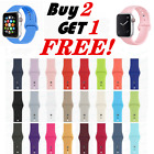 Silicone Band Strap For Apple Watch 1 2 3 4 Iwatch Sports Series 38 42 40 44mm