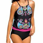 Abstract Printed Women One Piece Tankini Swimsuit Tummy Control Padded Plus Size $20.89 USD on eBay