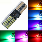 W5W T10 24SMD 4014 LED Car License Plate Light Clearance Parking Lamp Code