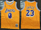 Los Angeles Lakers #23 LeBron James Basketball jersey joint BAPE yellow on eBay