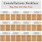 12 Constellation Zodiac Sign Pendant Necklace Women Choker Chain Buy One Get One