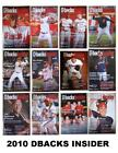 2010 Arizona Diamondbacks Dbacks Insider Programs #1 - #12 Your Choice Any Issue on Ebay