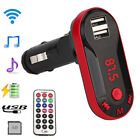 Bluetooth Handsfree Car Kit FM Transmitter MP3 Player& USB Fast Charger US Stock