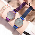 Elegant Women Ladies Crystal Starry Sky Watch Magnetic Strap Wrist Watches Gift image