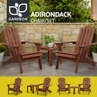 Gardeon Outdoor Furniture Beach Chairs Table Lounge Chair Wooden Patio Garden