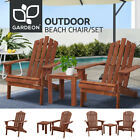 Gardeon Outdoor Furniture Beach Chairs Table Chair Lounge Wooden Patio Garden