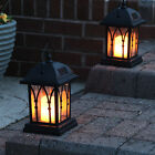 Retro Solar Path Torch Light Flame Lighting LED Flickering Outdoor Garden fz