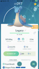 Pokemon Go 2016 Legacy Trade / ALL 1500cp and Below / Great League PVP