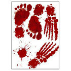 Scary Horror Blood Handprint Footprint Window Floor Wall Sticker Halloween Decor