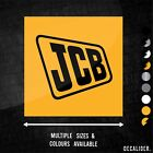 Jcb Badge Sticker Decal - Many Sizes & Colours Excavator Digger Tractor Fastrac