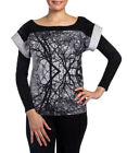 Smash Barcelona S-XXL UK 10-18 RRP ?38.50 Willy Tshirt Top Black Grey Tree