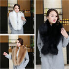Women Faux Fur Collar Scarf Shawl Wrap Stole Warmer Shrug For Winter Coat New
