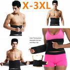 Men Fat Burner Sauna Tummy Tuck Belt Body Shaper Girdle Belly Slim Waist Trainer