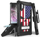 Rugged Tri-Shield Case + Belt Clip for Galaxy Note 10 Plus - Patriotic Series