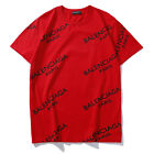 Original Pack Balenc1aga Casual Tops Shirts UK Men's Cotton T-Shirt Women Blouse