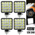 12v 48w Car Led Work Spot Lights Spotlight Lamp Van Atv Offroad Suv Truck