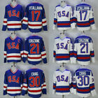 1980 USA Hockey Jersey 30 Jim Craig 21 Mike Eruzione 17 Jack OCallahan Custom