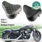 Leather Front Driver Solo Seat Cushion Pad For Harley Sportster XL 883 1983-2003 $68.35 USD on eBay