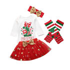 FixedPriceus my first christmas infant baby girl romper sequins xmas tutu dress outfit set