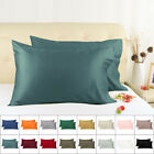 2 Pack 600 TC Pillow Case 100% Long Staple Combed Cotton Pillowcases Covers image