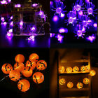 Halloween Led Pumpkin String Lights Spider Fairy Lights Party Home Window Decor