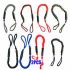 2PCS 3.5-5.5 ft Bungee Dock Line Mooring Stretch Rope For Boat Blue Red Black ##