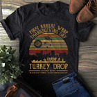 Retro Vintage Sunset First Annual WKRP Thanksgiving Day Turkey Drop T-Shirt image