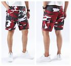 Mens Casual Street Cargo Shorts Army Military BDU Camo Shorts Work Shorts