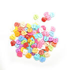 100 PCS Mixed 2 Holes Buttons Clothing Sewing DIY Craft for Kids 10mm H_ne