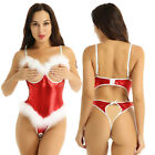 Sexy Women Christmas Gift Open Cup Crotchless Bodysuit Lingerie Clubwear Teddies