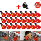 Купить 24Pcs Feed Automatic Bird Coop Poultry Chicken Fowl Drinker Water Drinking Cups