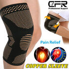 Knee Sleeves Compression Brace Support Sport Joint Injury Pain Arthritis Copper $7.69 USD on eBay