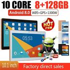 """10.1"""" WIFI/4G-LTE HD PC Tablet Android 8.0 bluetooth 8 128G SIM GPS Dual Camera"""