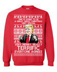 President Donald Trump Terrific Holiday Ugly Christmas Sweater Gift